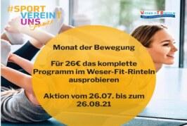 Aktion in den Sommerferien: Monat der Bewegung im Weser-Fit-Rinteln