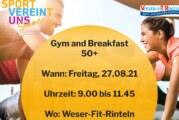 """""""Gym + Breakfast 50+"""": Sport und Power-Frühstück im Weser-Fit-Rinteln"""