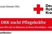 Stellenanzeige: DRK sucht Pflegekräfte (w/m/d) in Eisbergen
