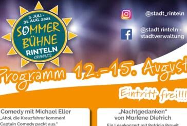 Comedy, Lesekonzert, Lustiges und Musik: Die Rintelner Sommer-Bühne vom 12. bis 15. August
