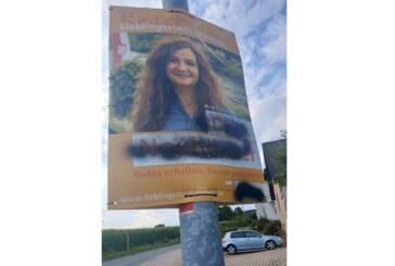 CDU-Wahlplakat besprüht: Anzeige und 500 Euro Belohnung für Hinweise