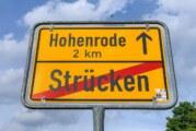 Vollsperrung zwischen Hohenrode und Strücken: Bauarbeiten starten in den Herbstferien