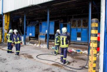 Feuerwehreinsatz bei PreZero in Porta Westfalica