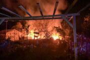 Feuerwehreinsatz am Exter Weg: Gartenhaus im Flammen