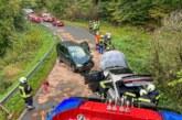 Einsatz in Westendorf: Verkehrsunfall auf der Kreisstraße 74 mit drei Autos