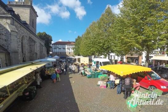 Kein Wochenmarkt am Samstag, weniger Parkplätze am Steinanger